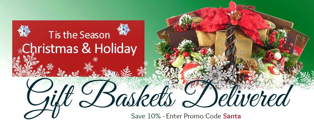 Christmas gift baskets delivered