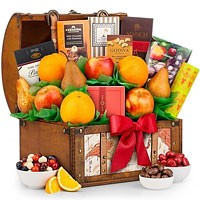 Fruit & Gourmet Delight Gift Basket