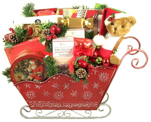 Christmas Sleigh Gift Basket for the Whole Family